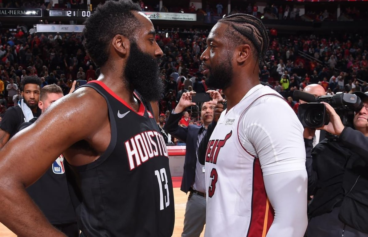 James Harden and Dwyane Wade