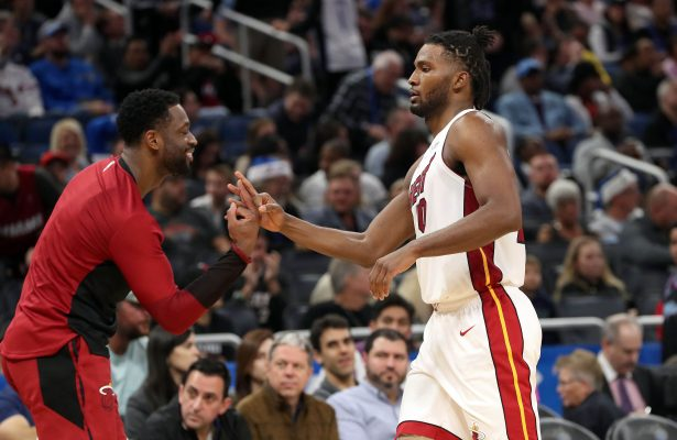 Justise Winslow and Dwyane Wade Miami Heat