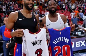 Dwyane Wade and Wayne Ellington