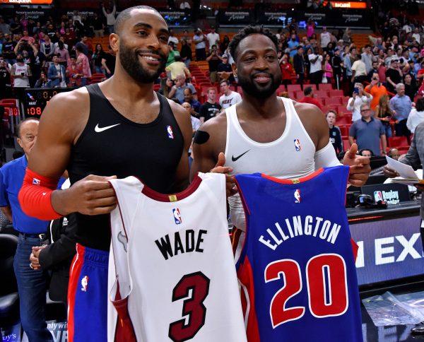 Dwyane Wade and Wayne Ellington