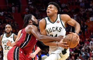 Giannis Antetokounmpo and Justise Winslow