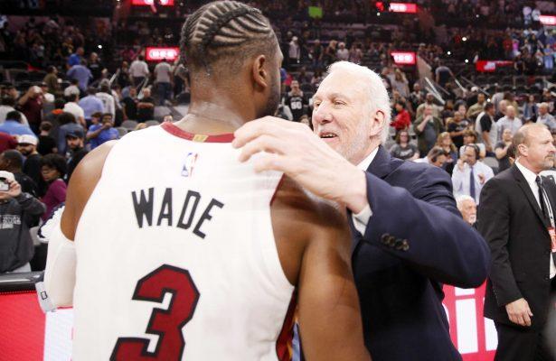 Miami Heat Dwyane Wade San Antonio Spurs Gregg Popovich