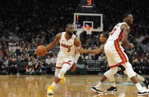Dwyane Wade and Bam Adebayo Miami Heat