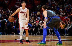Goran Dragic and Luka Doncic Miami Heat Dallas Mavericks