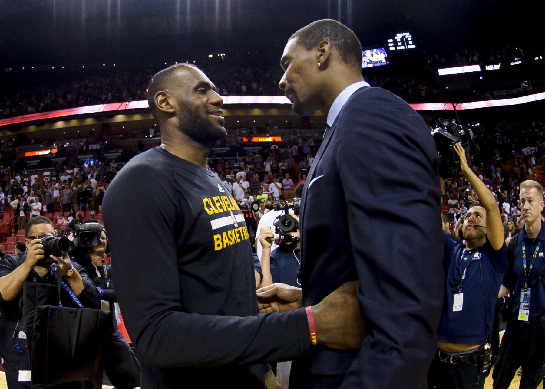 LeBron James and Chris Bosh