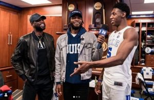 Dwyane Wade, Justise Winslow, and R.J. Barrett