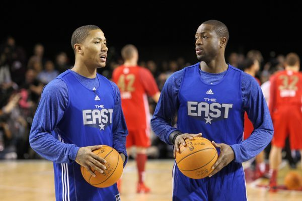 Dwyane Wade and Derrick Rose