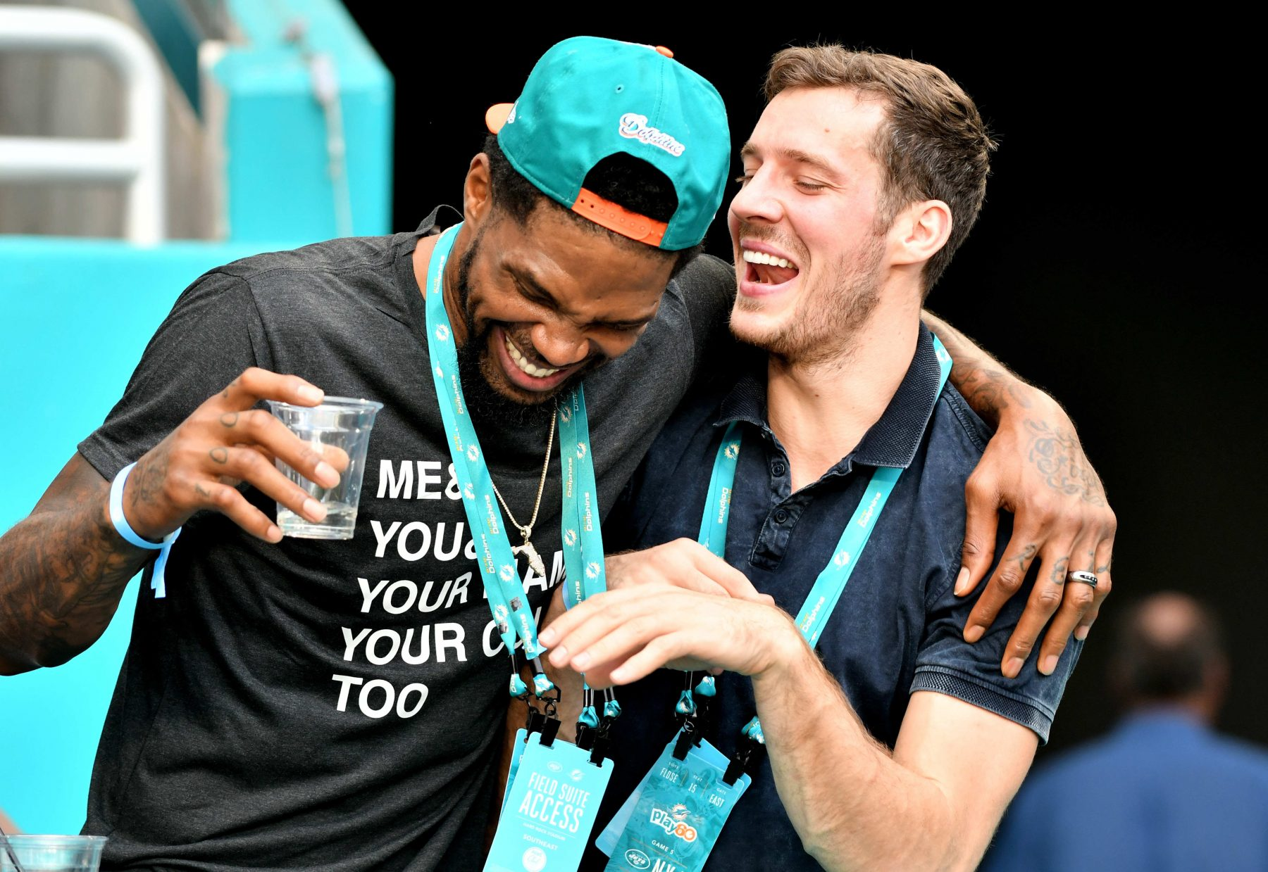 Udonis Haslem and Goran Dragic