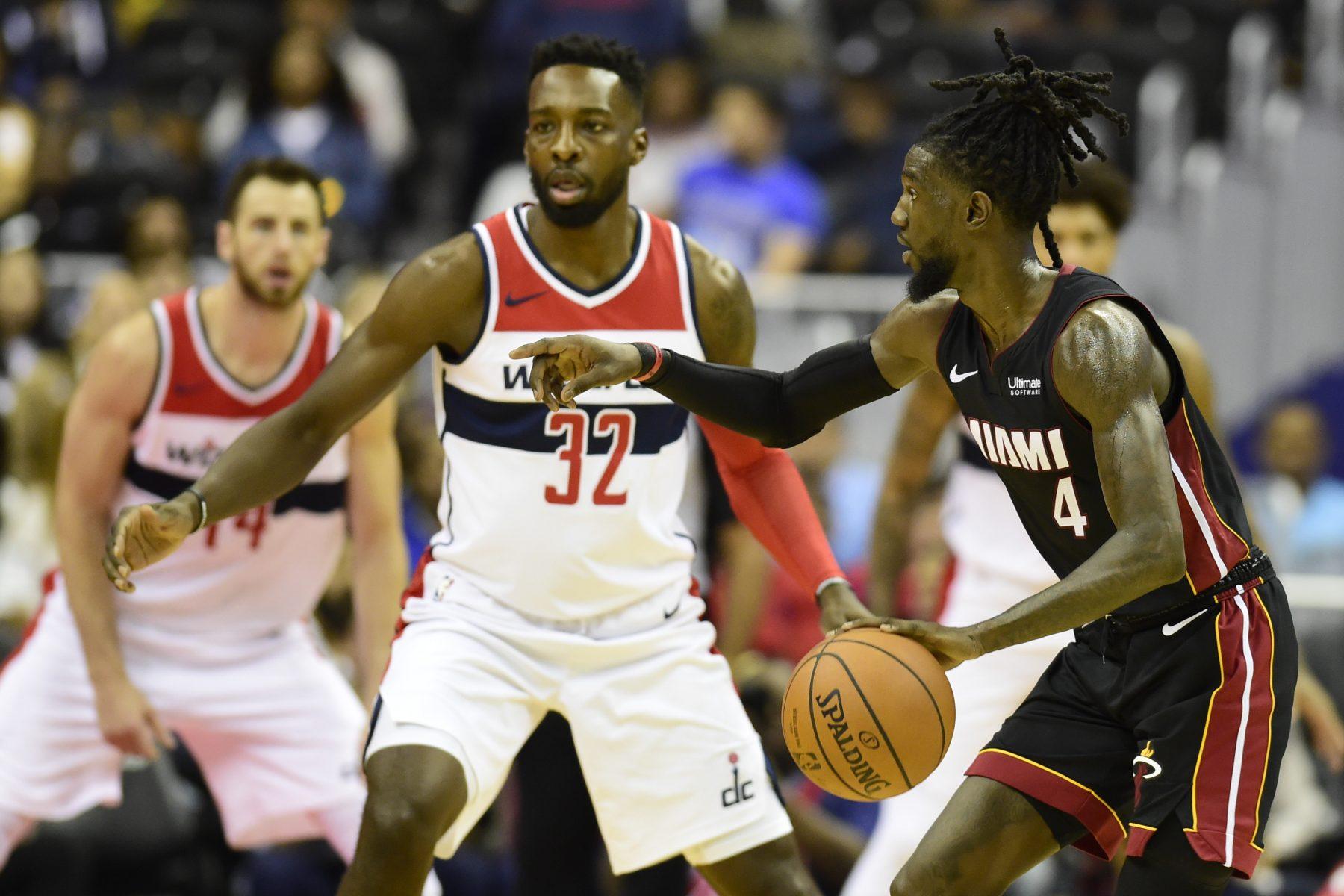 Miami Heat Washington Wizards Briante Weber Jeff Green