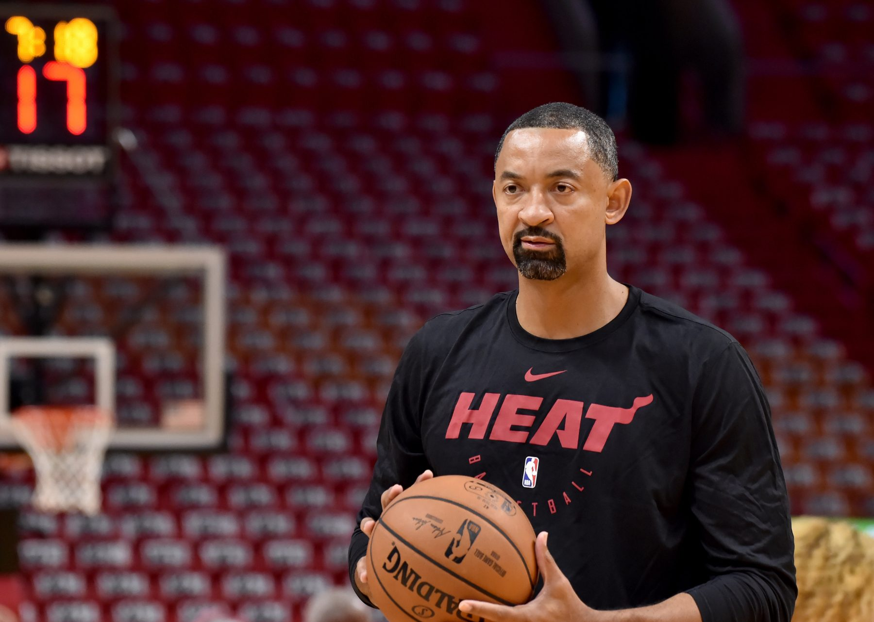 Juwan Howard Miami Heat Practice