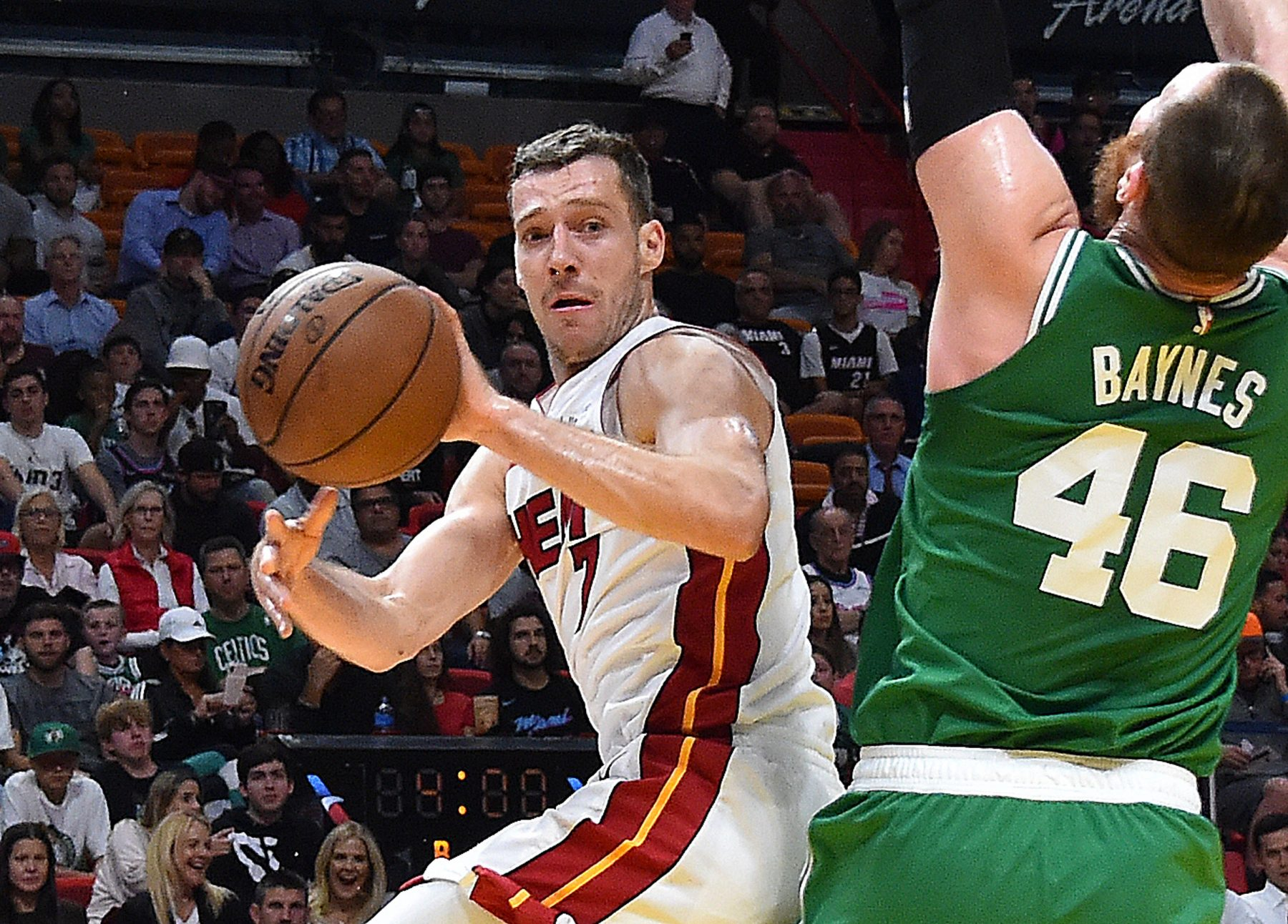 Miami Heat Boston Celtics Goran Dragic Aron Baynes
