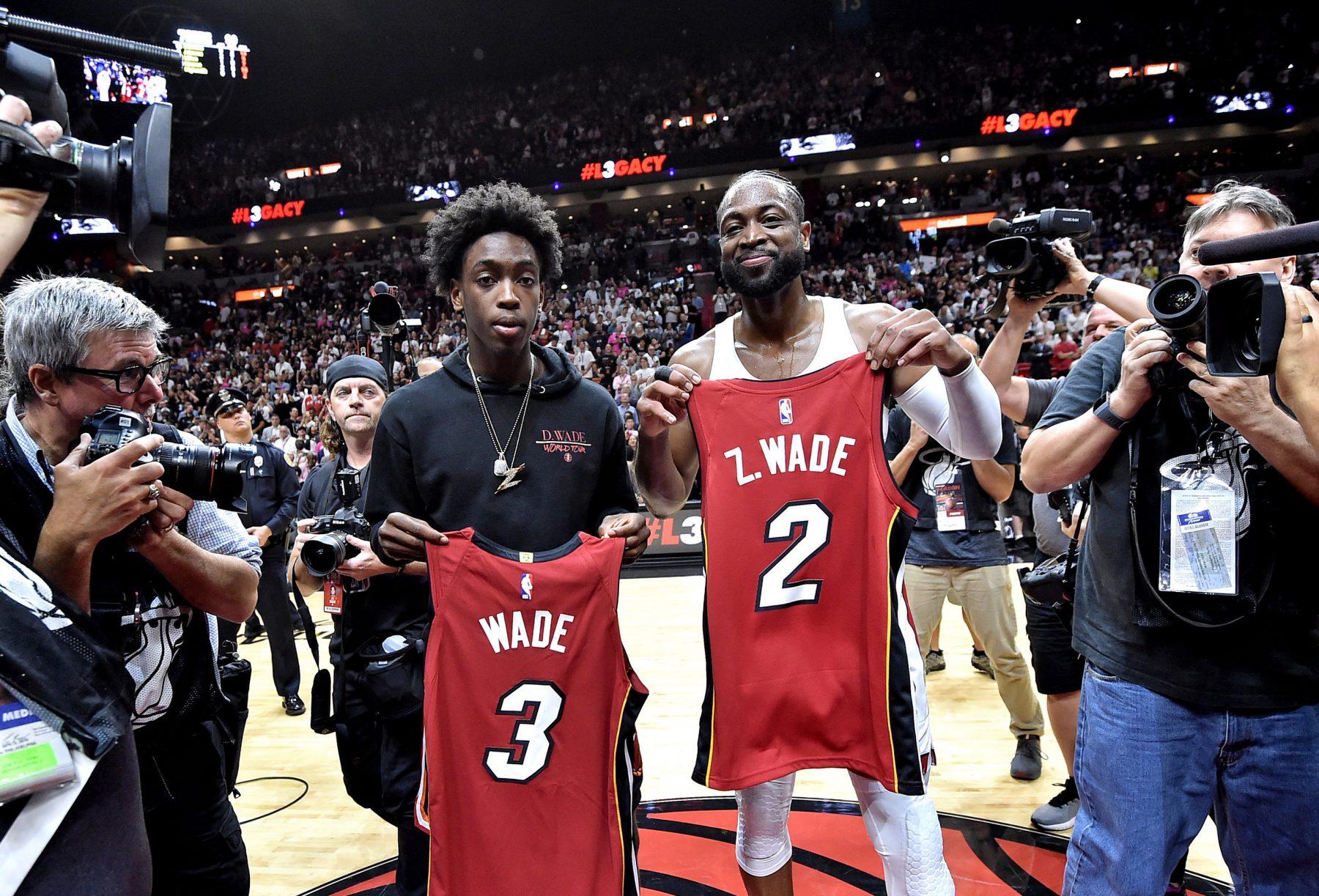 Miami Heat Dwyane Wade Zaire Wade