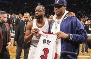 Miami Heat Dwyane Wade Carmelo Anthony