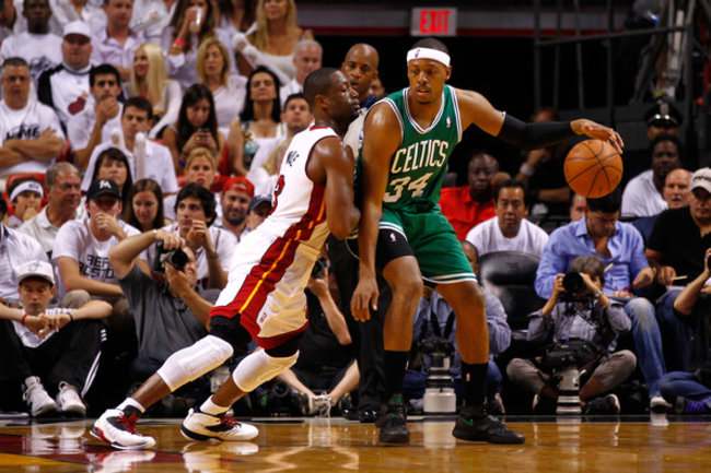 Dwyane Wade and Paul Pierce
