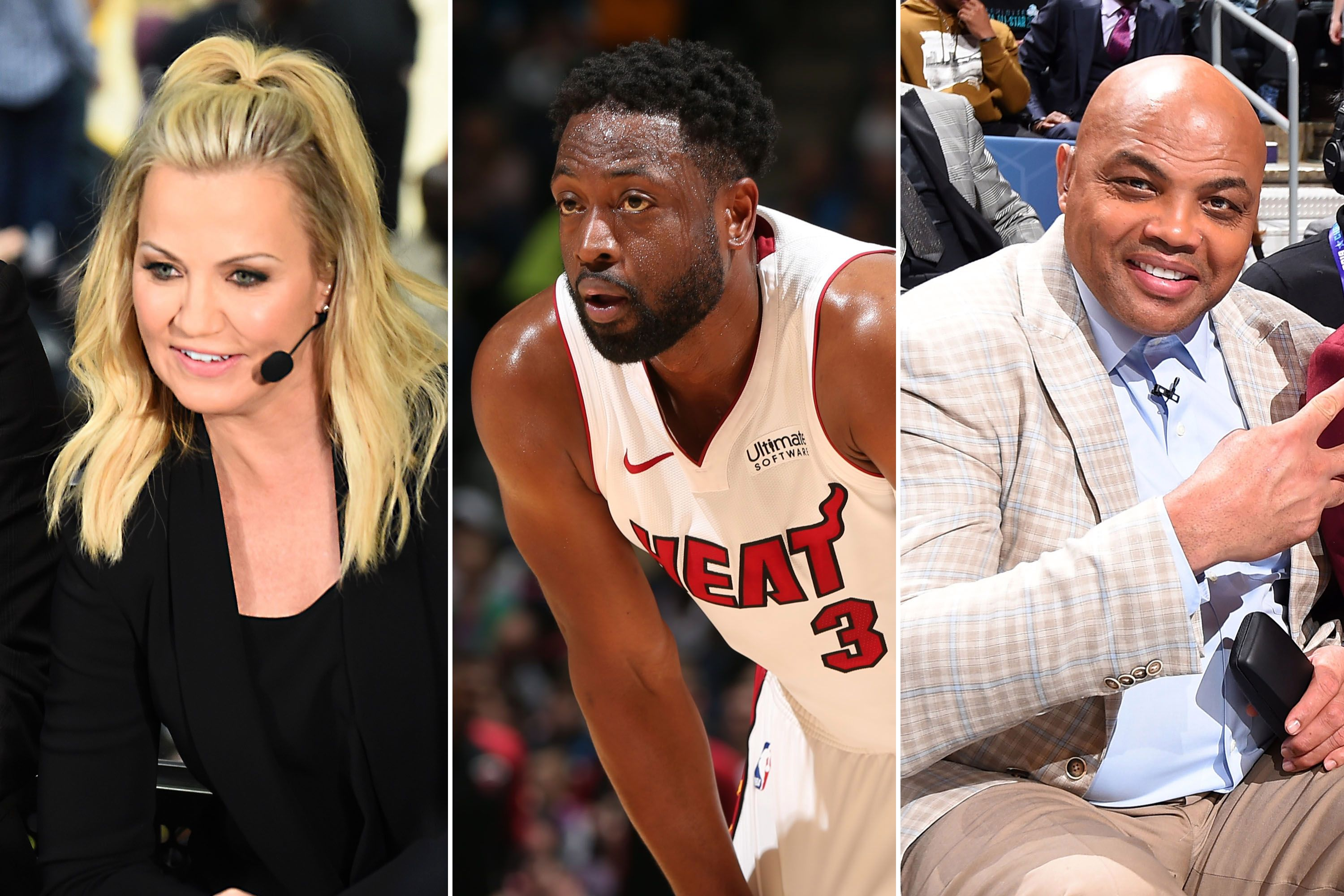 Michelle Beadle, Dwyane Wade, and Charles Barkley