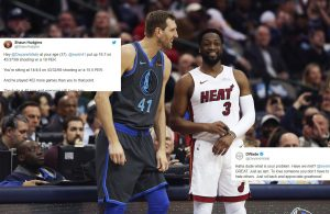 Dwyane Wade and Dirk Nowitzki