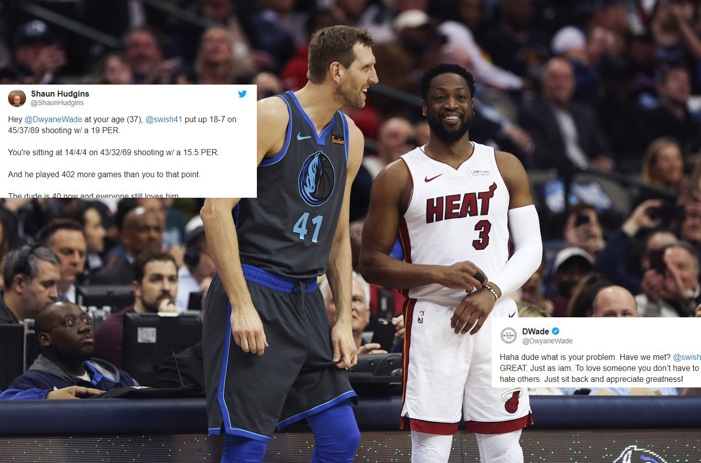 Famous friends stop by to see Wade's NBA finale