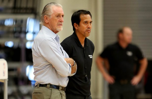 Pat Riley and Erik Spoelstra Miami Heat