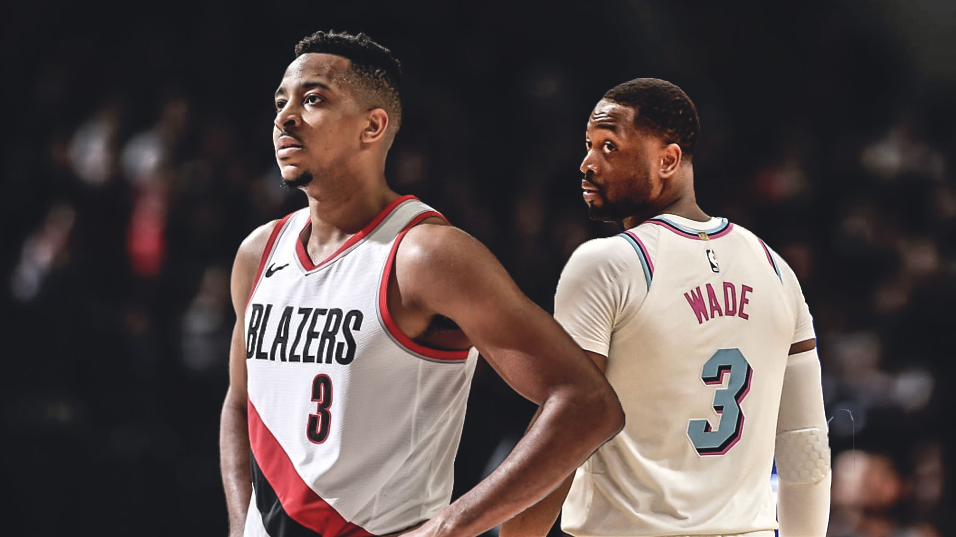 Dwyane Wade and C.J. McCollum