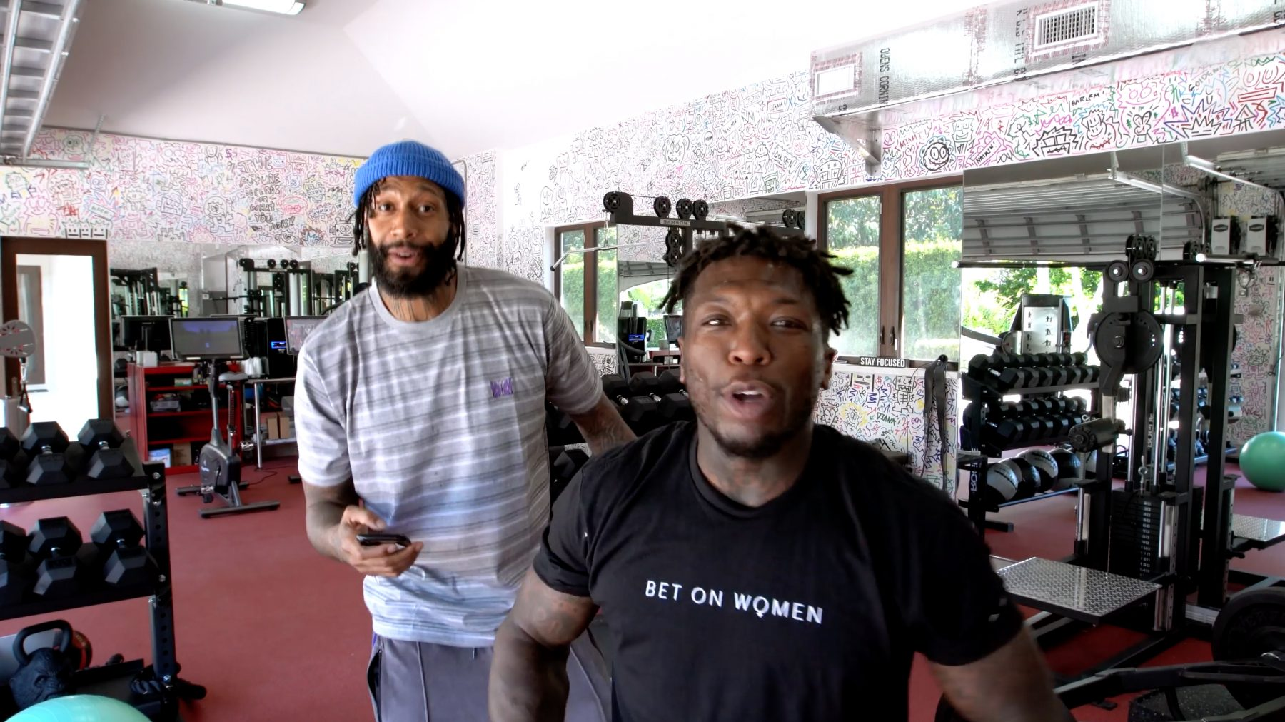 James Johnson and Nate Robinson