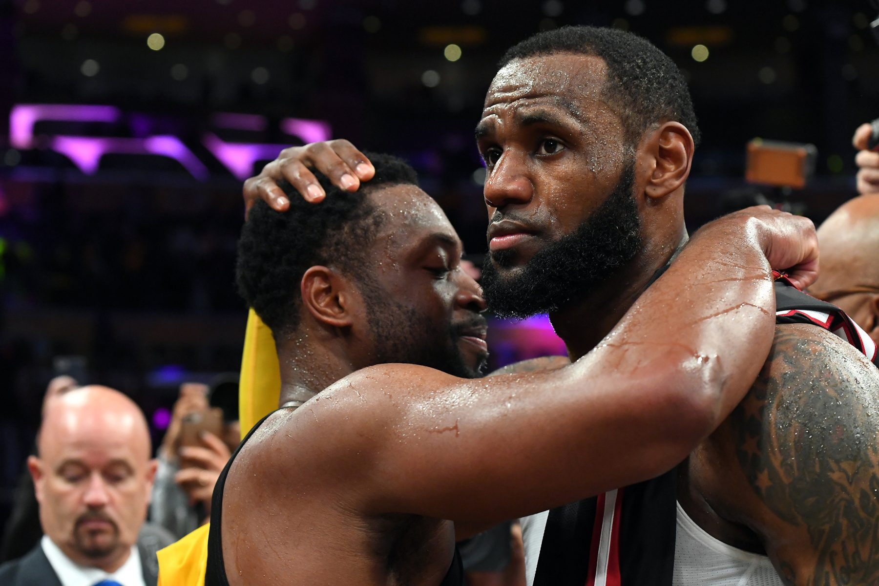 Miami Heat Los Angeles Lakers LeBron James Dwyane Wade