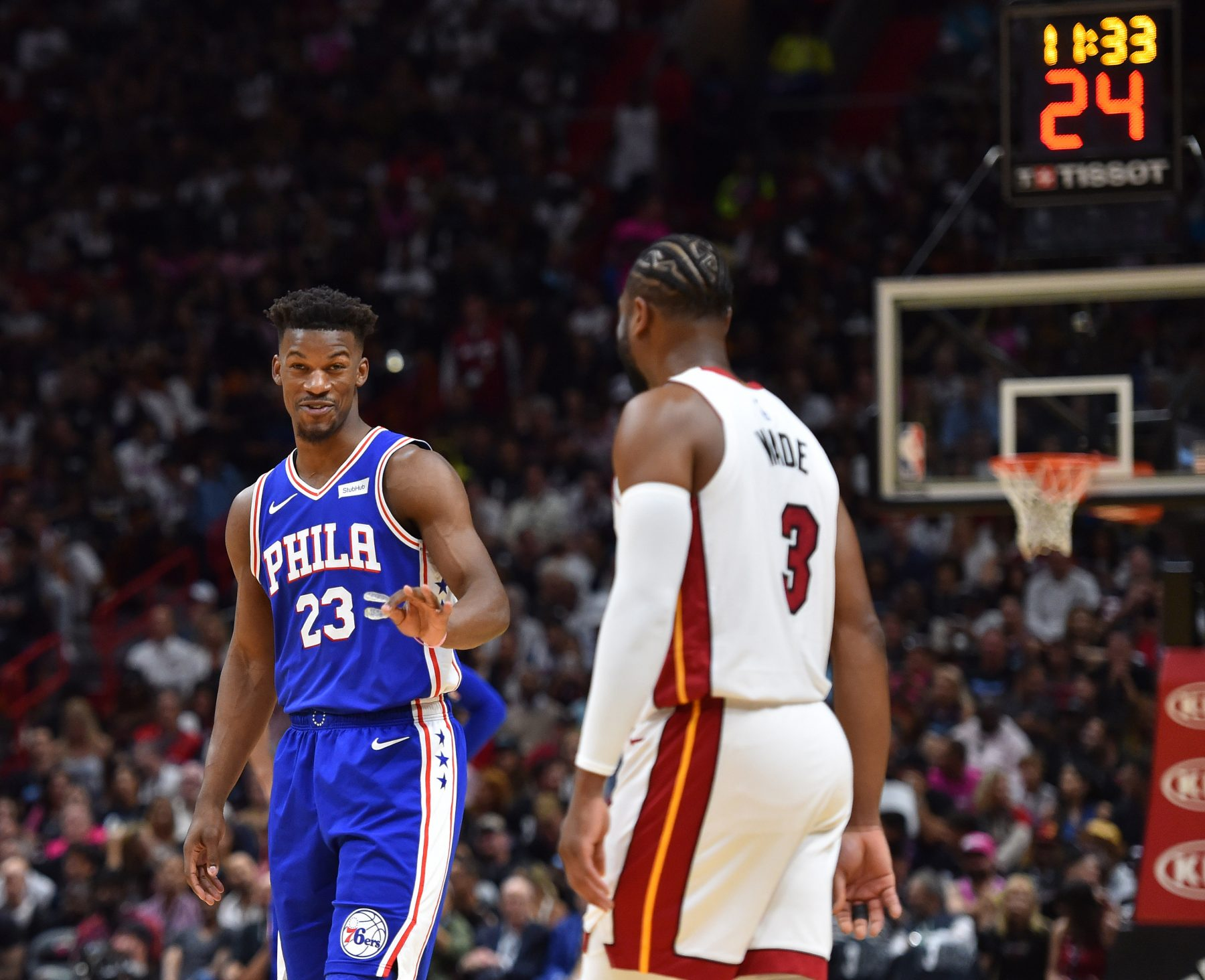 Miami Heat Philadelphia 76ers Jimmy Butler Dwyane Wade