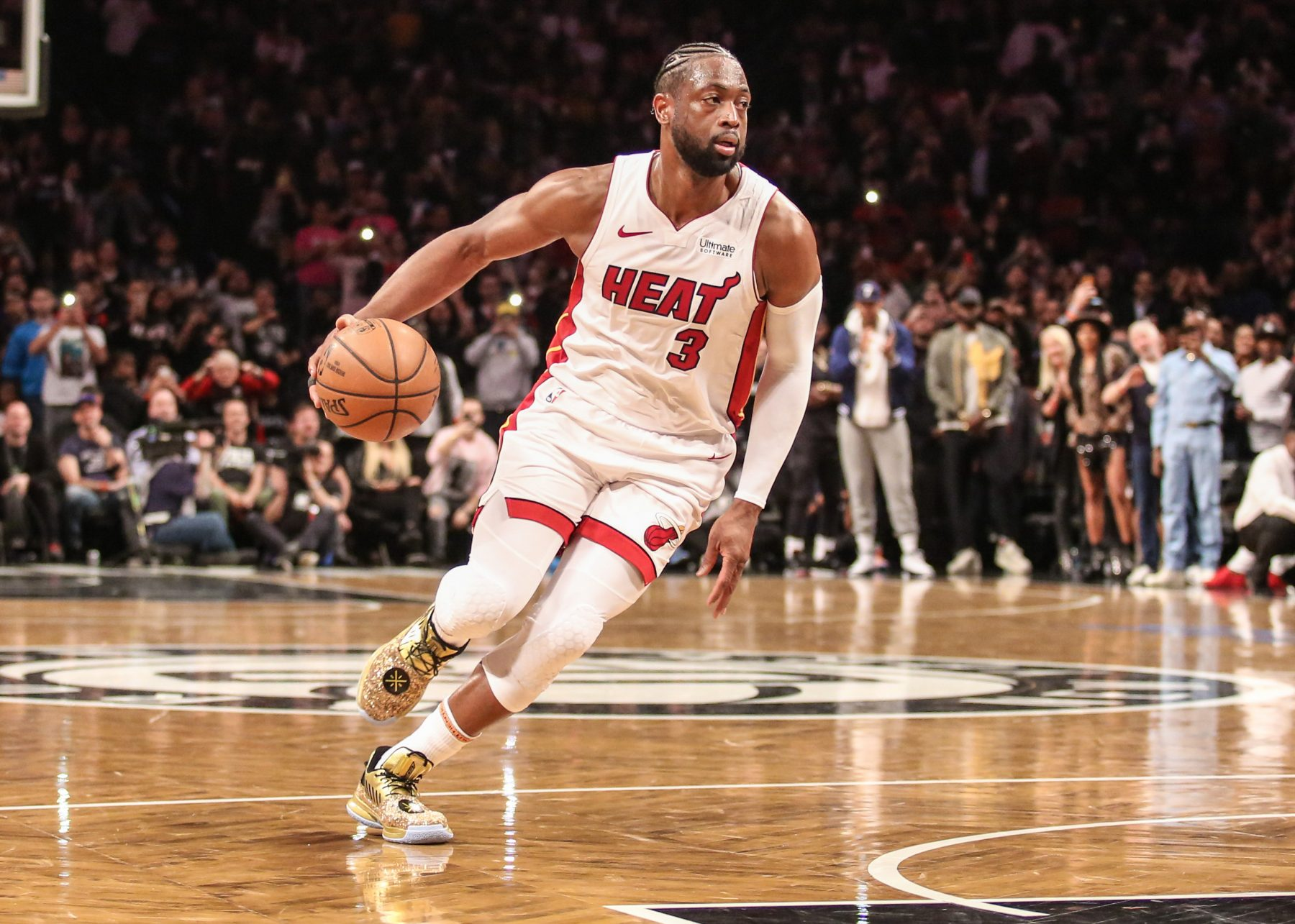 Dwyane Wade Shows Off Newest Tattoo on His Left Knee