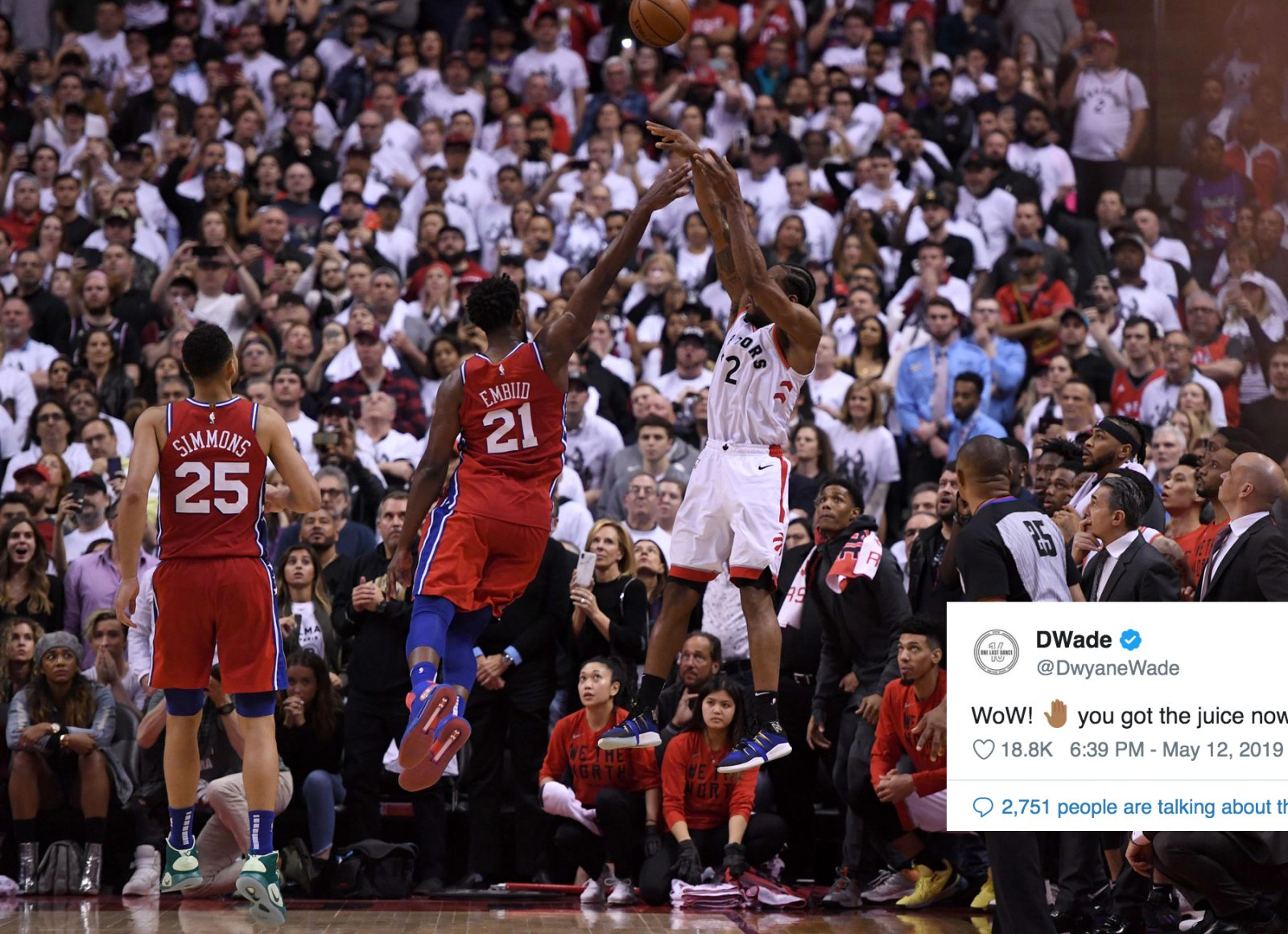 Dwyane Wade's Reaction to Kawhi Leonard's Insane Game-Winner Over