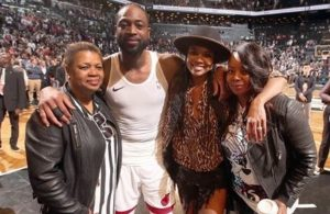Dwyane Wade, Gabrielle Union and His Mom