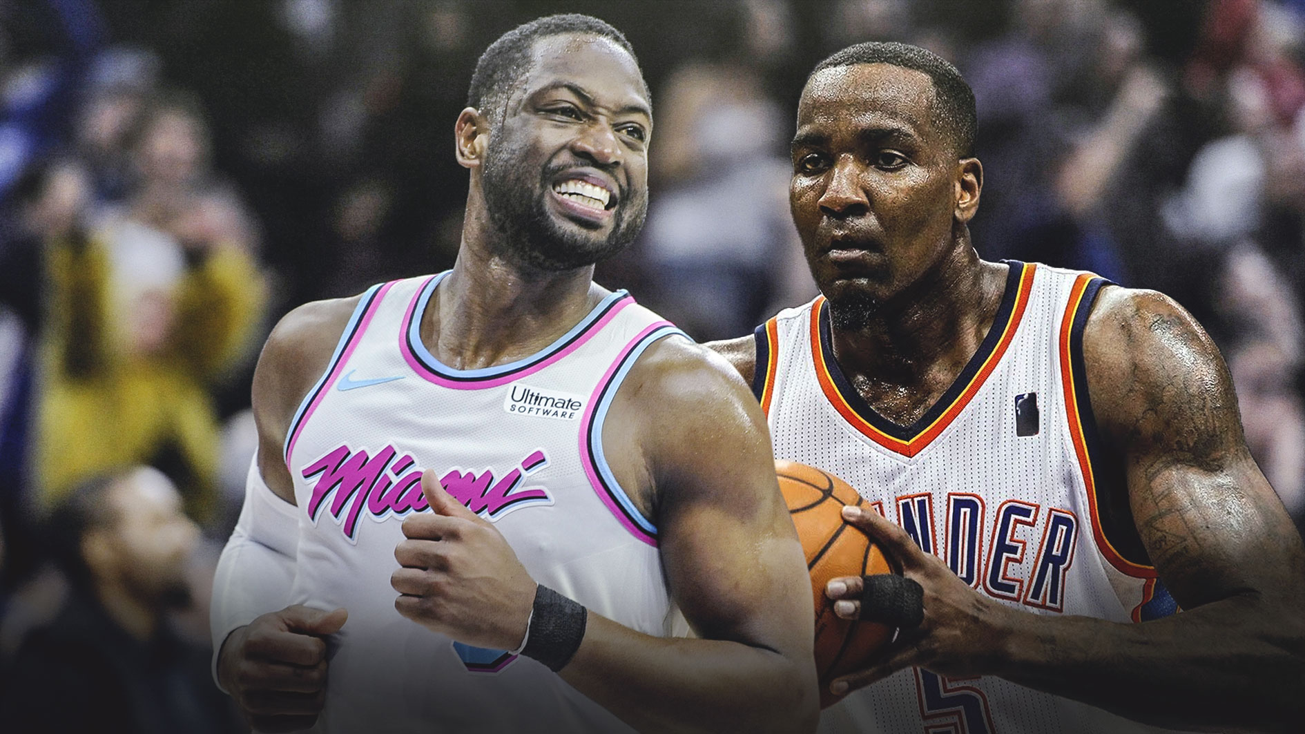 Dwyane Wade and Kendrick Perkins