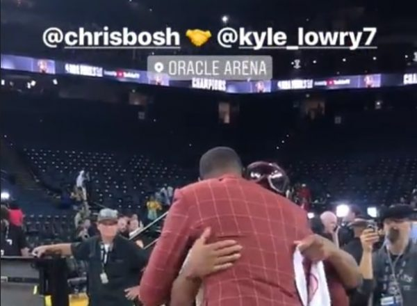 Chris Bosh and Kyle Lowry