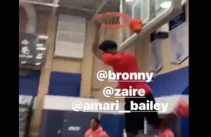 Bronny and Zaire Wade