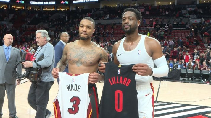 Dwyane Wade and Damian Lillard