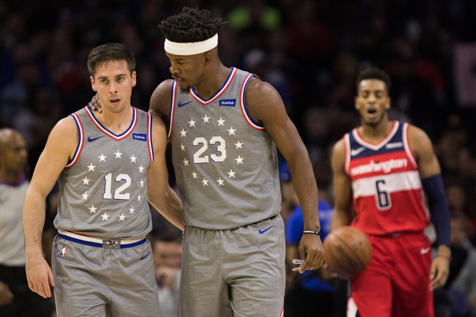 T.J. McConnell and Jimmy Butler
