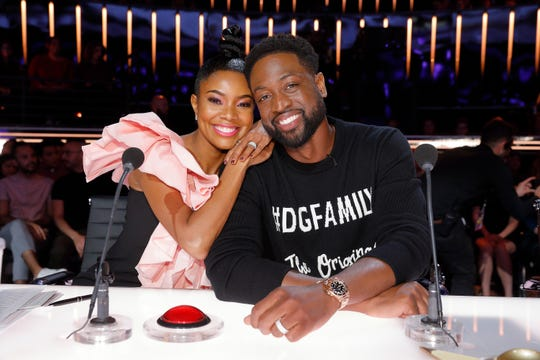Gabrielle Union and Dwyane Wade America's Got Talent