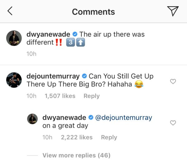Dwyane Wade and Dejounte Murray