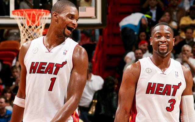 Chris Bosh and Dwyane Wad