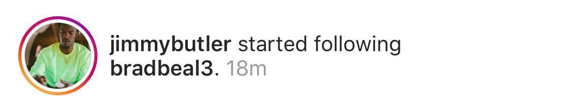 Jimmy Butler follows Bradley Beal Instagram