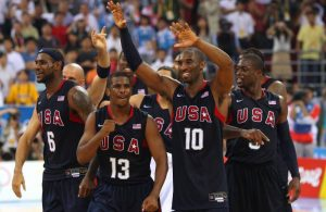 LeBron James, Chris Paul, Kobe Bryant and Dwyane Wade Team USA