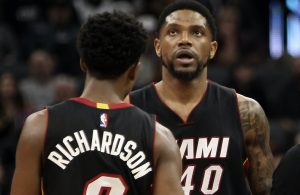 Josh Richardson and Udonis Haslem