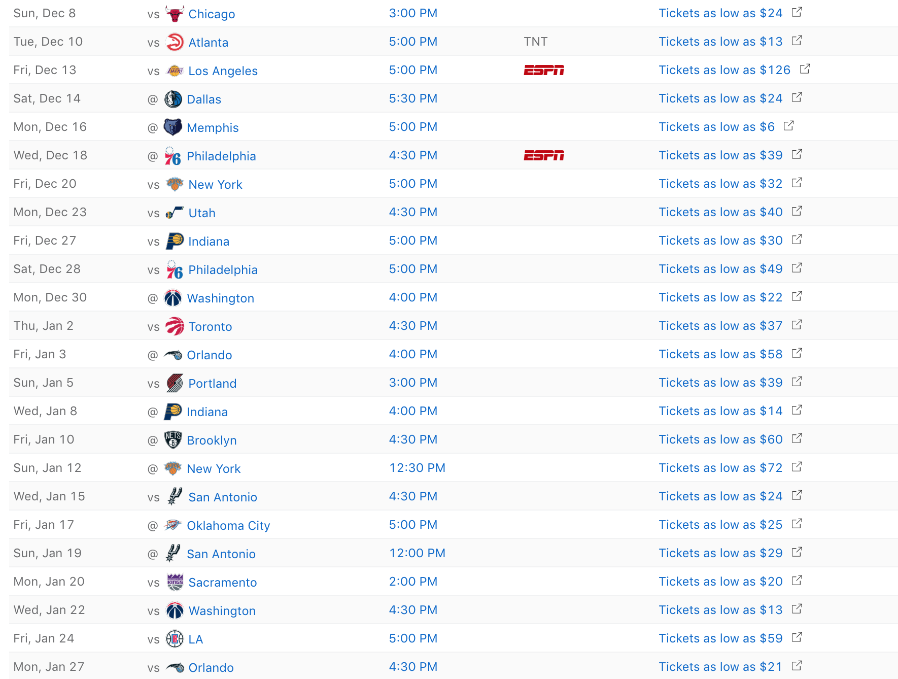 Miami Heat 2019-20 Regular Season Schedule