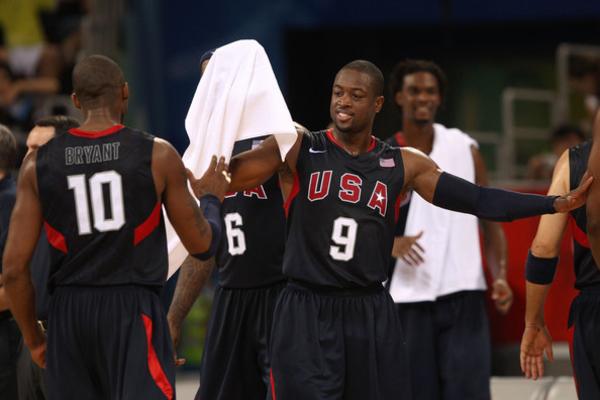 Dwyane Wade and Kobe Bryant Team USA