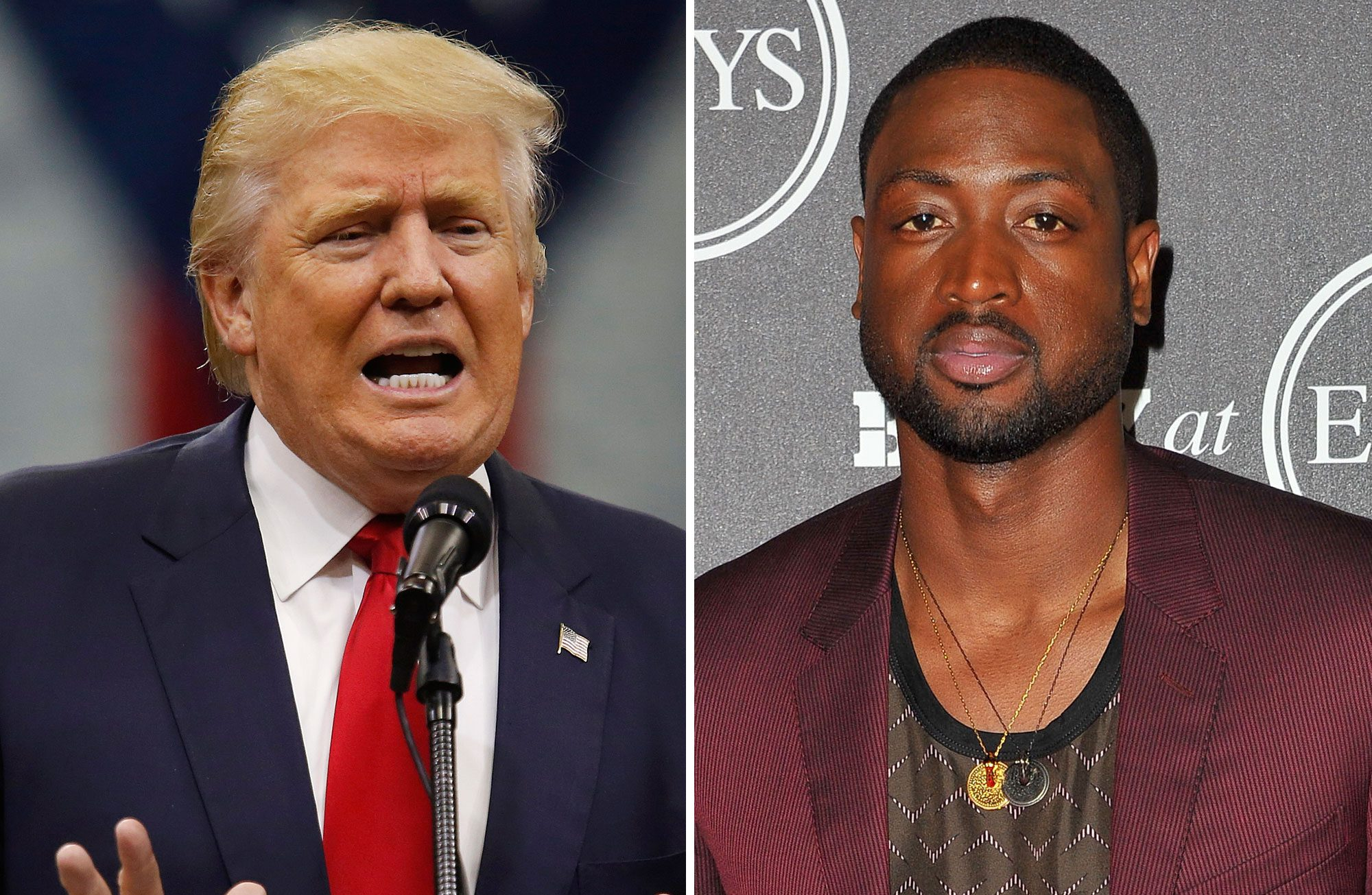 Donald Trump and Dwyane Wade