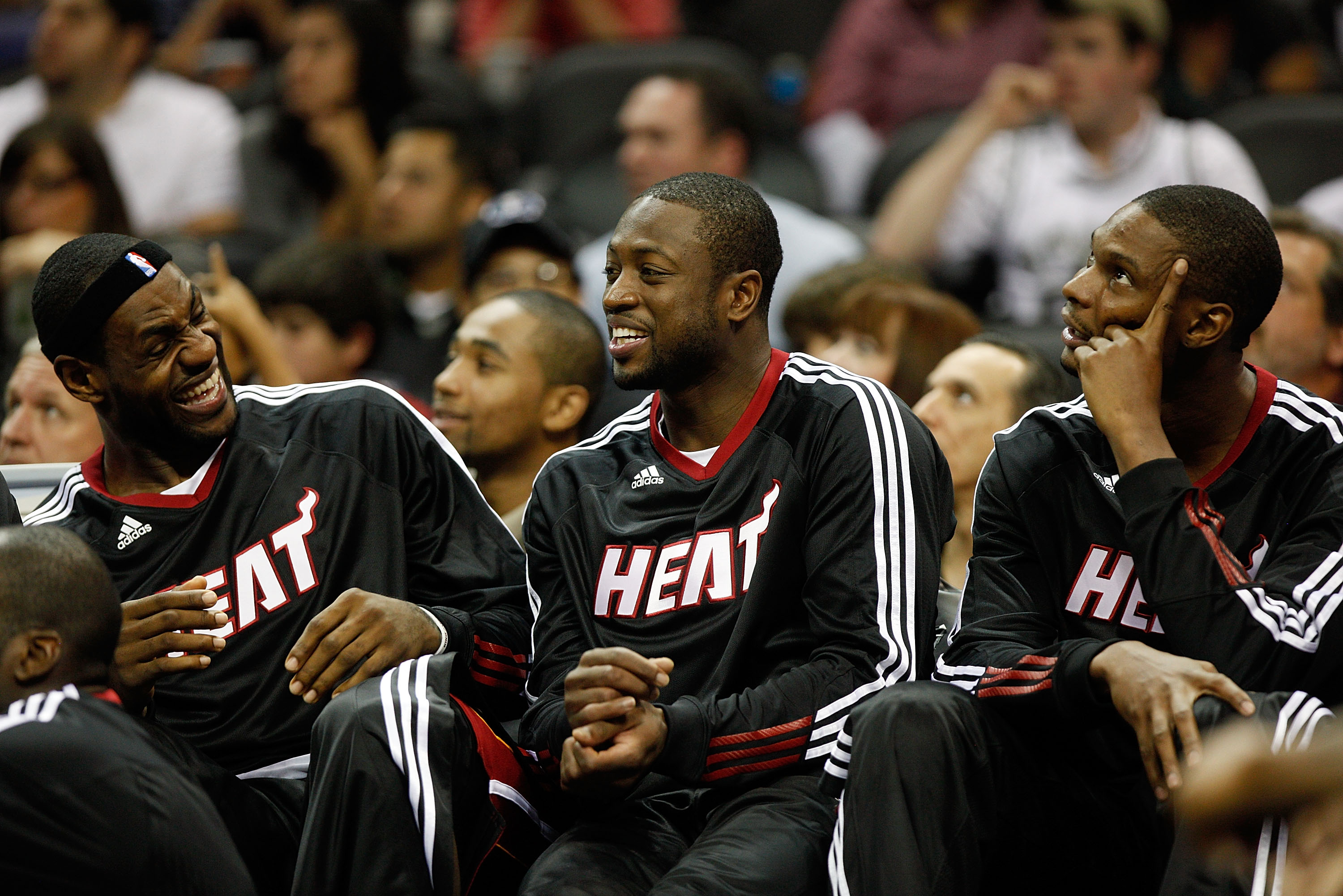LeBron James, Dwyane Wade, and Chris Bosh