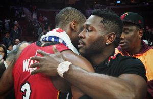 Dwyane Wade and Antonio Brown