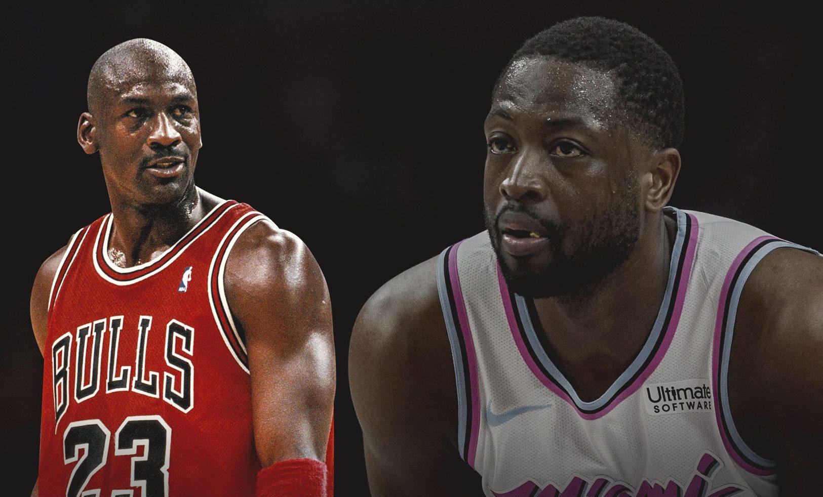 Michael Jordan and Dwyane Wade