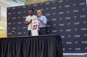 Jimmy Butler and Pat Riley Miami Heat