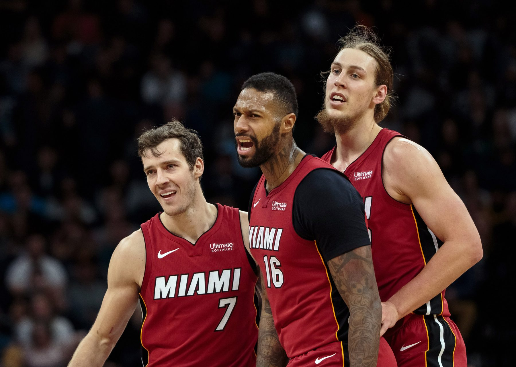 Goran Dragic, James Johnson, Kelly Olynyk