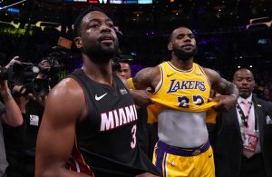 Dwyane Wade and LeBron James Lakers