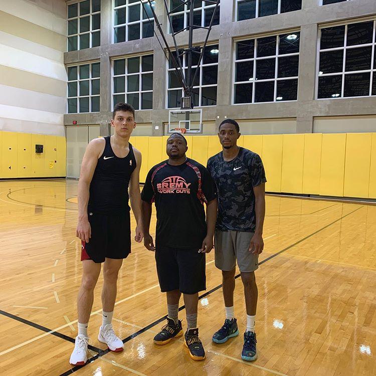 Tyler Herro, Stanley Remy, and Brandon Knight